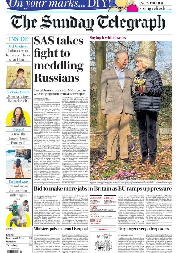 The Sunday Telegraph 21st March 2021